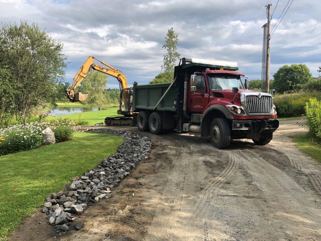 Ditch Rock Install